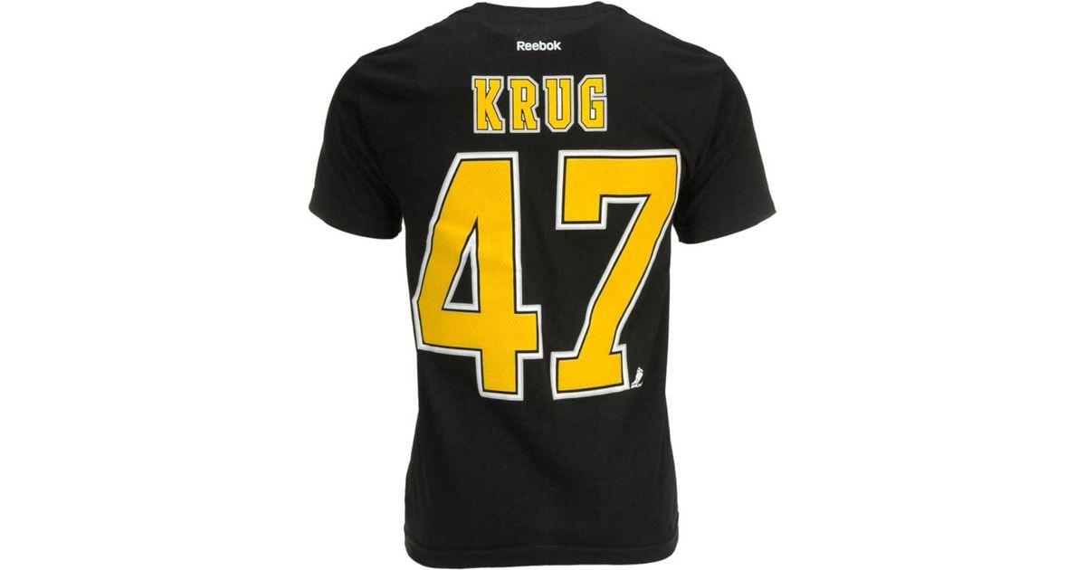 huge selection of cee61 952c3 Reebok - Black Men's Short-sleeve Torey Krug Boston Bruins Nhl Player  T-shirt for Men - Lyst