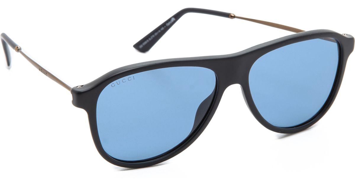 Gucci Aviator Sunglasses in Black for Men