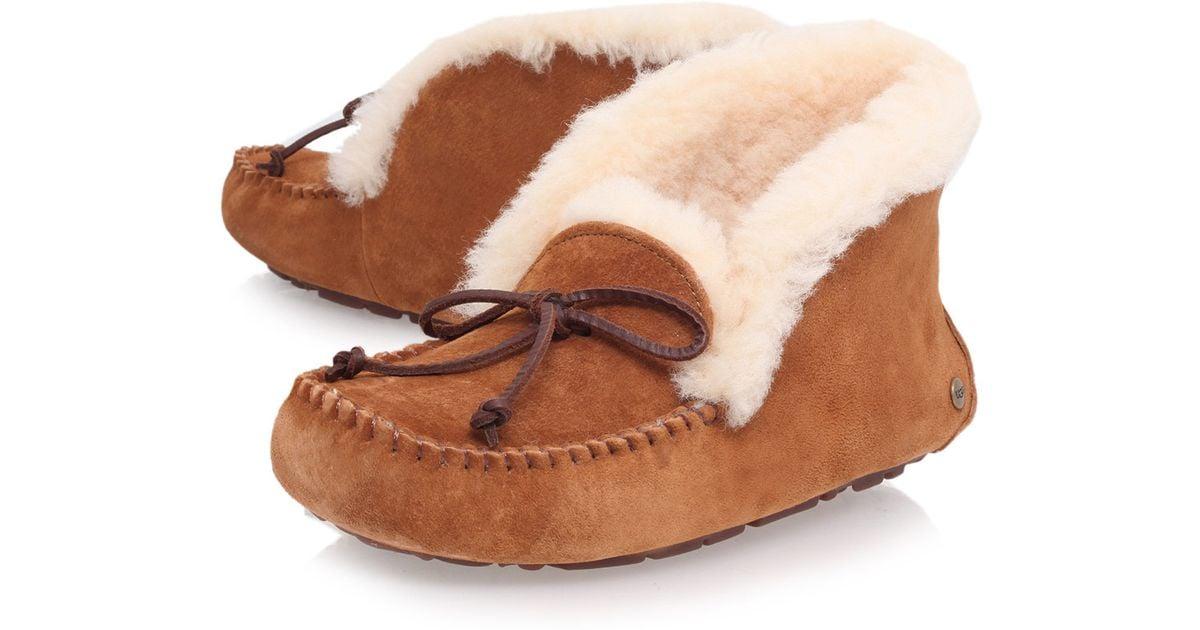 97627402840 UGG Brown Black Alena Sheepskin Slipper Boots