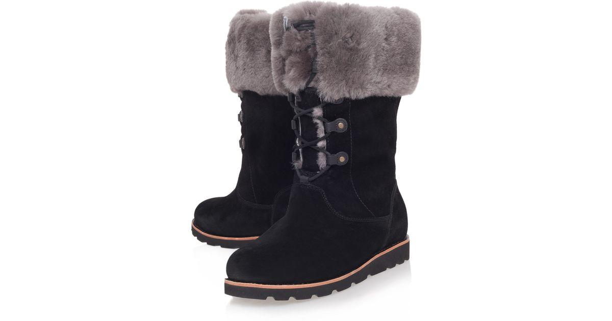b60c189fe96 UGG Black Barbarin Suede Calf Boots