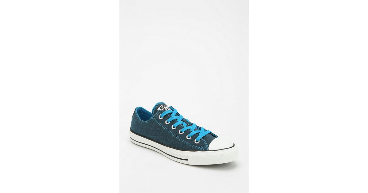 Urban Outfitters Blue Converse Chuck Taylor All Star Dark Wash Neon Womens Lowtop Sneaker