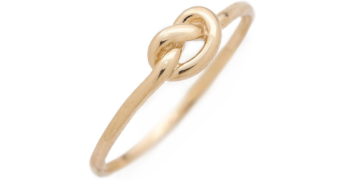 Lyst Ariel Gordon Love Knot Ring Gold in Metallic
