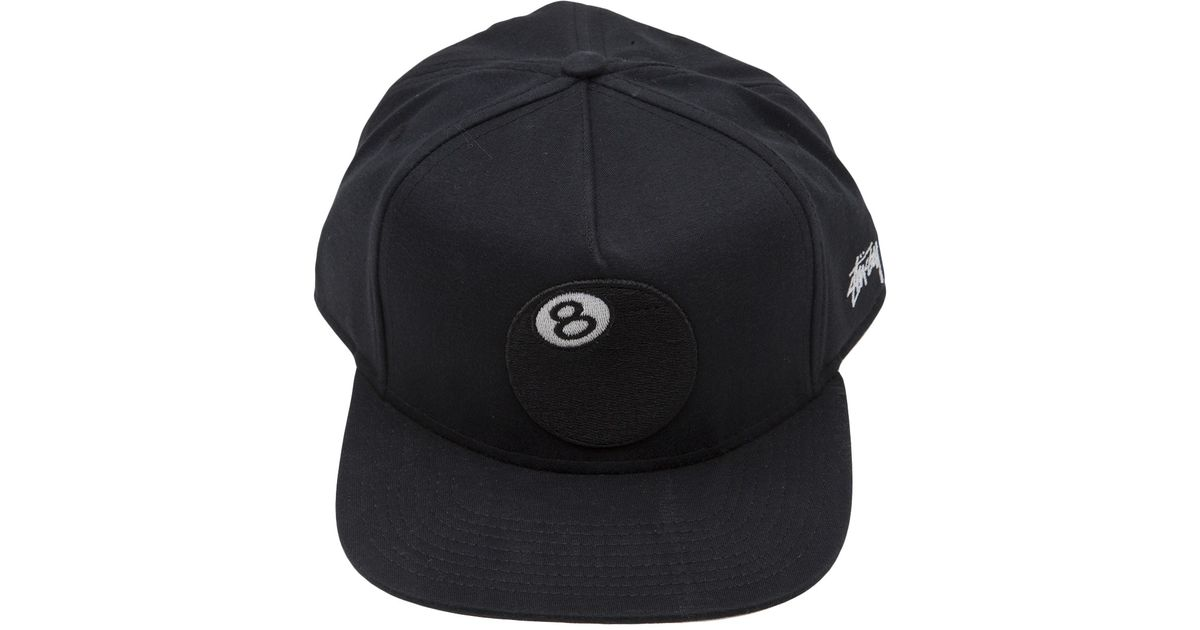 280cc0fb163 Lyst - Stussy 8ball Jersey Snapback in Black for Men