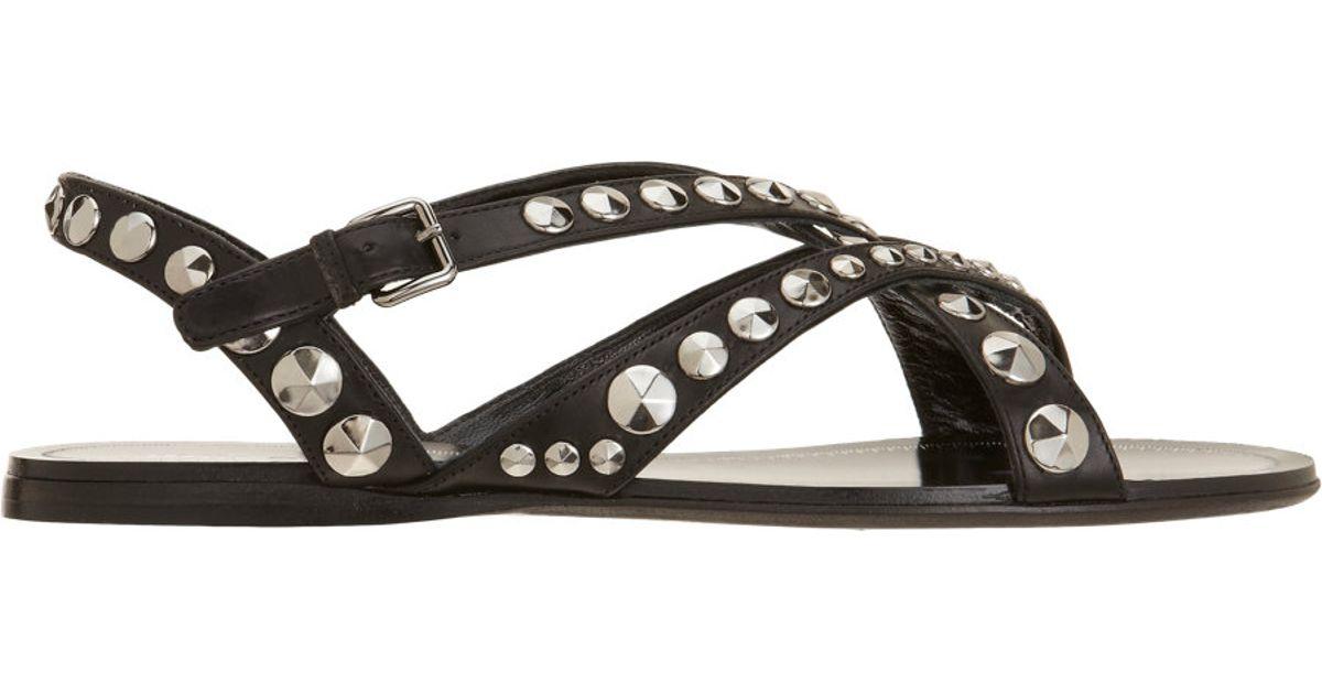Studded Black Miu Black Miu Sandal Gladiator XPZwklOiTu