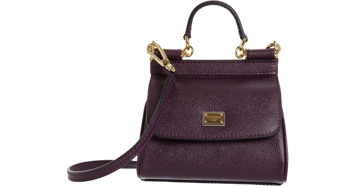Dolce   Gabbana Micro Miss Sicily Bag in Purple - Lyst 9c35e1365b