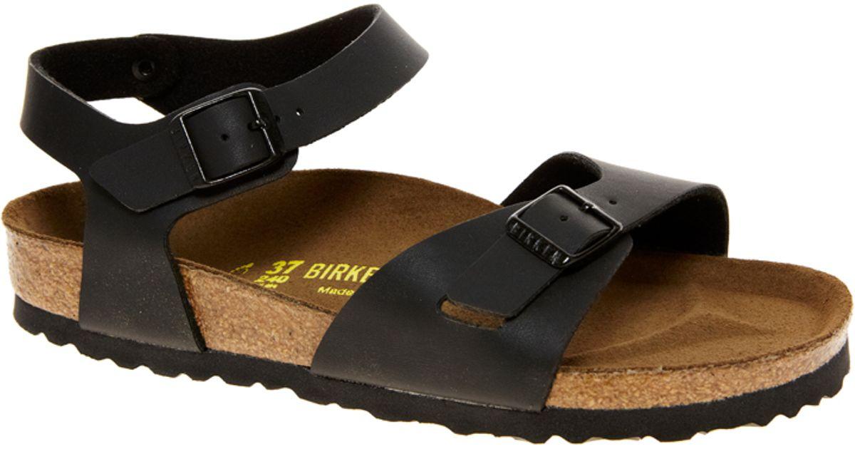2 Strap Sandals Birkenstock Black Rio Jl13TFKcu