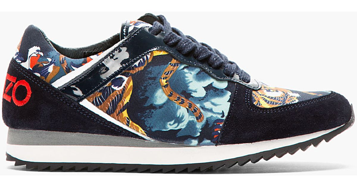 ae9e2bf5be756a Lyst Flying Snax Tiger Tan Sneaker Blue Kenzo And waaIr7