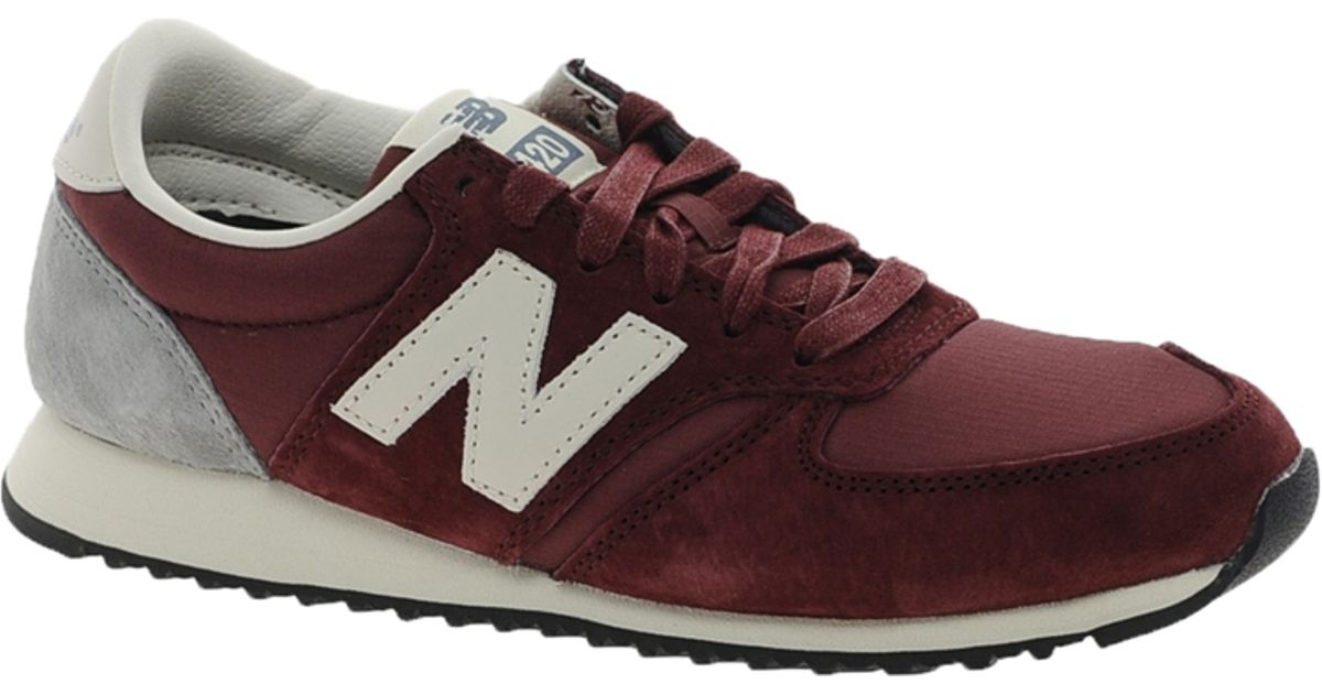 new balance 420 burgundy suede sneakers in brown lyst. Black Bedroom Furniture Sets. Home Design Ideas