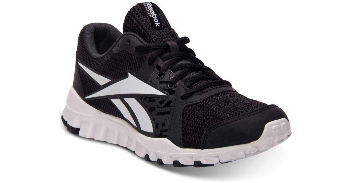 75cdd280537 Lyst - Reebok Mens Realflex Advance Running Sneakers From Finish Line in  Black for Men