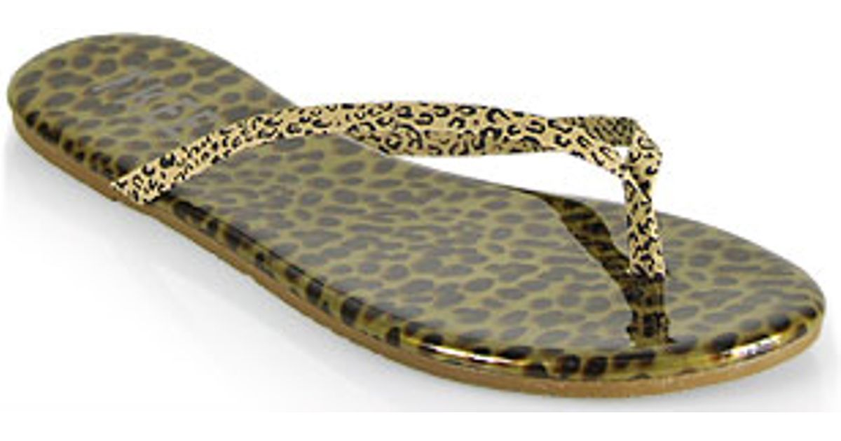 ef9b86fe27151f ... Tkees Face Paints - Chatty Cheetah Leather Thong Sandals - Lyst  professional sale 2a8fa d8267  brown ...