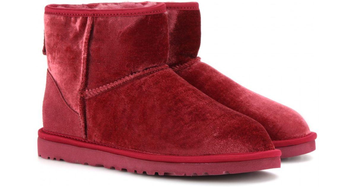 1c054f2d513 UGG Red Classic Mini Velvet Boots