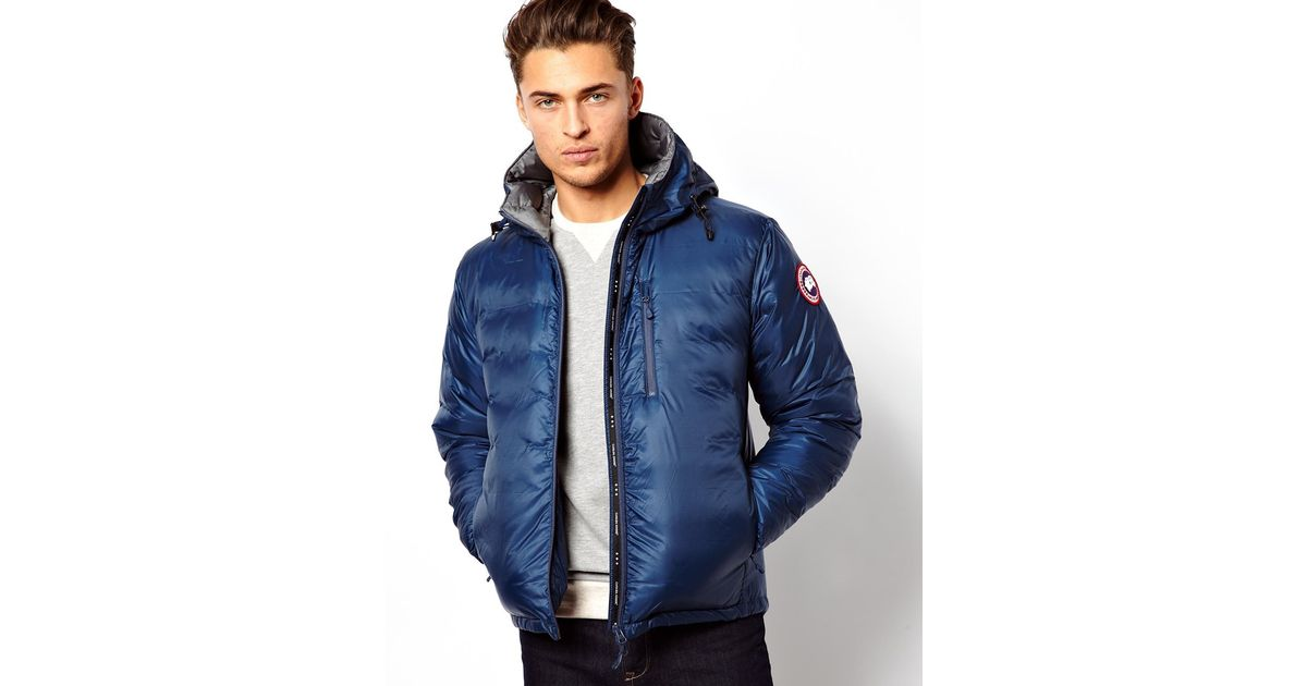 Canada Goose Lodge Hoody Jacket with Down Fill in Blue for Men - Lyst b3d8e94c0