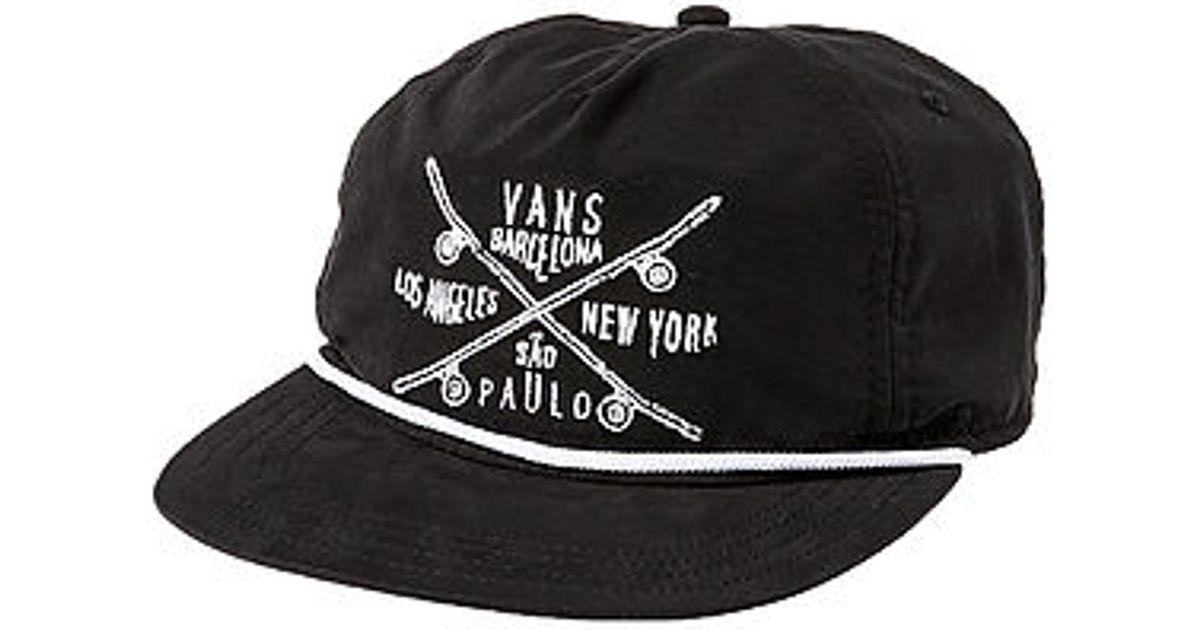 ca83dca26b8 Lyst - Vans The Wanderer Skate Team Hat in Black for Men