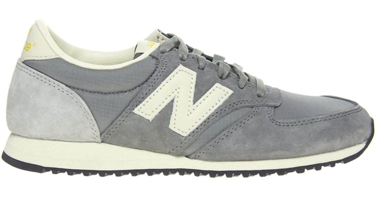 sports shoes 10d96 38918 New Balance 420 Grey Vintage Trainers in Gray - Lyst