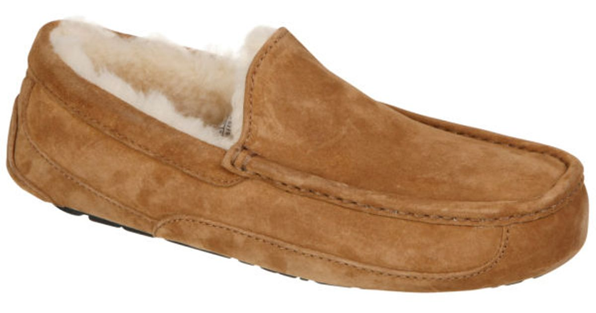 Ugg Australia Mens Ascot Suede Slippers In Brown For Men