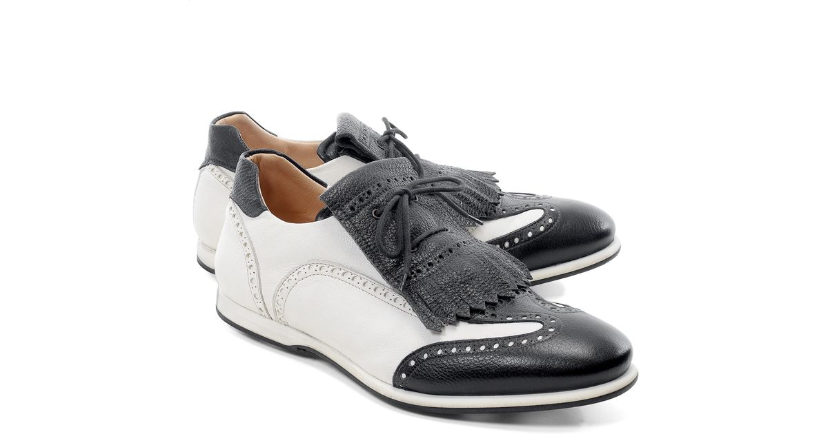 4f861f605f56e Lyst - Brooks Brothers Kiltie Golf Shoes in Black for Men