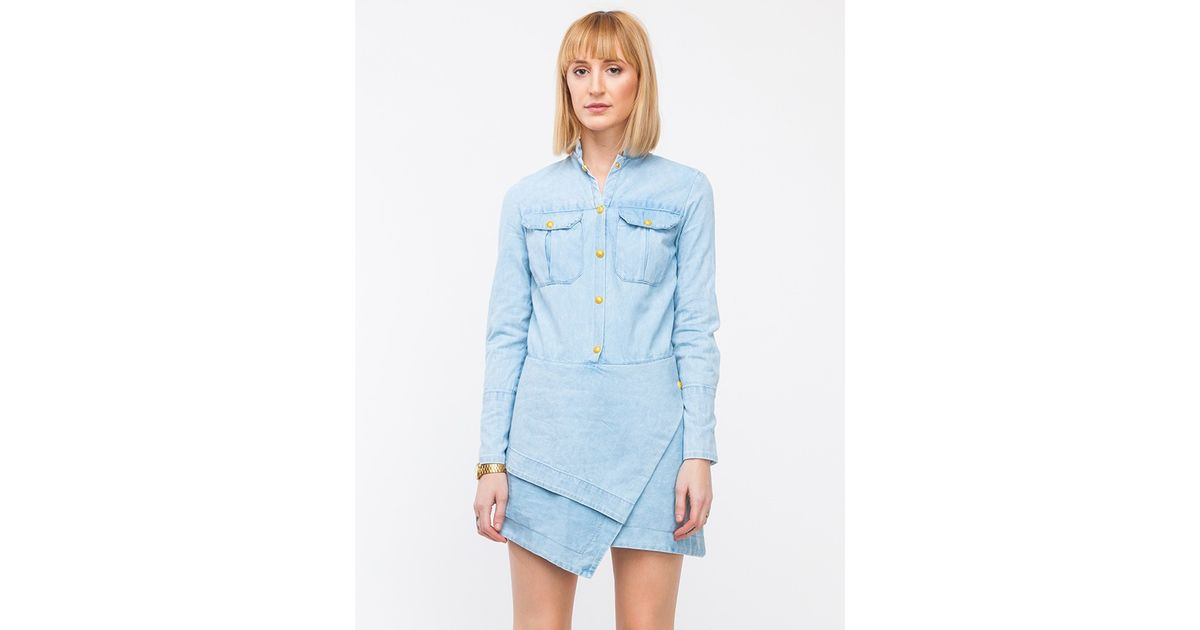 481dbd7cfec Lyst - Ksubi New Ice Shirt Dress in Blue