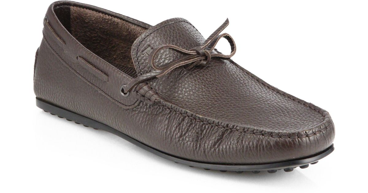 373ebcead75 Lyst - Tod s Laccetto City Gommino Moccasins in Brown for Men