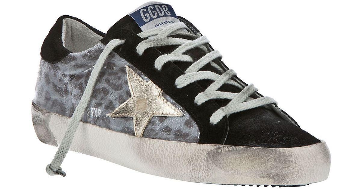 Sneaker Gray Goose Print Deluxe Brand Golden In Lyst Leopard 851qYwn