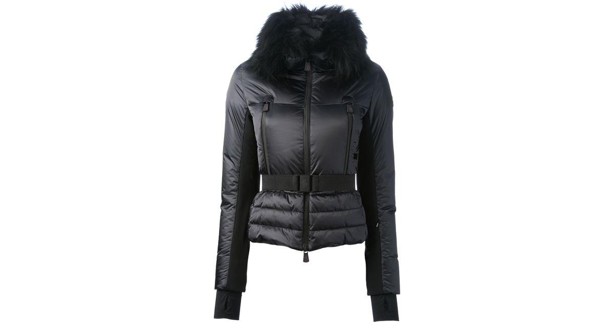 f86109044 Moncler Grenoble Black Fur Collar Padded Jacket