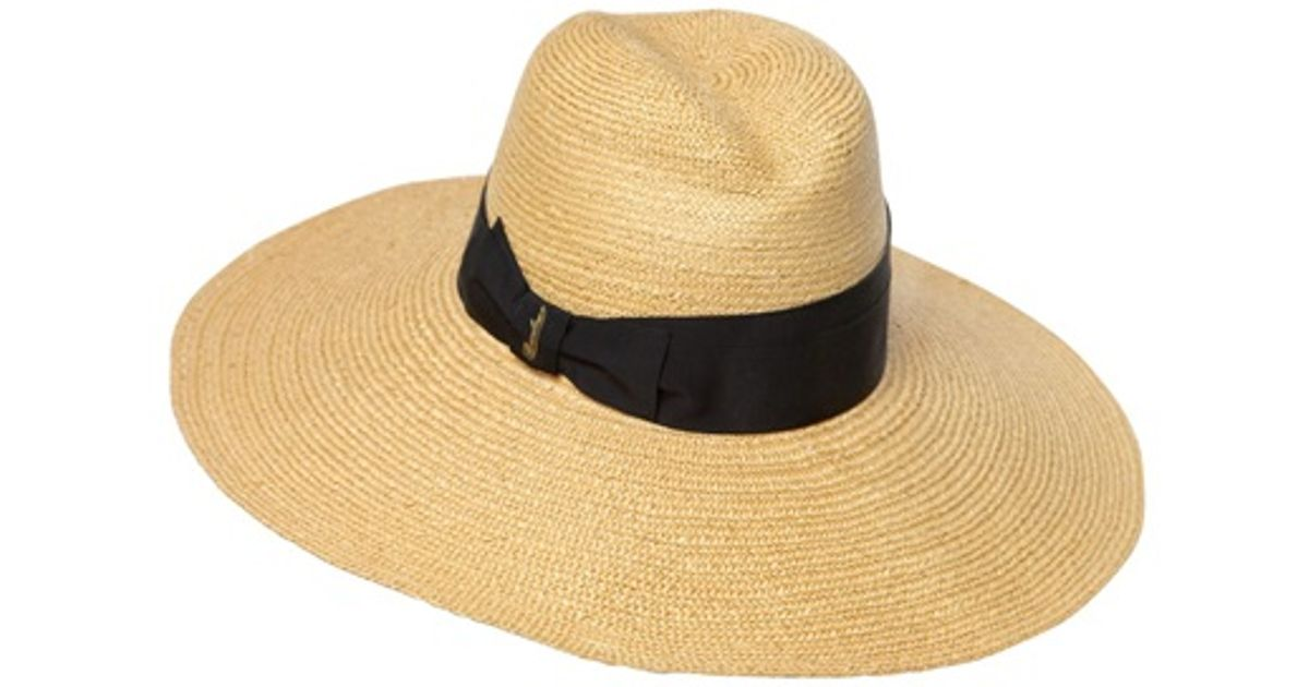 5910b9c3 Borsalino Straw Hat with Large Brim in Natural - Lyst