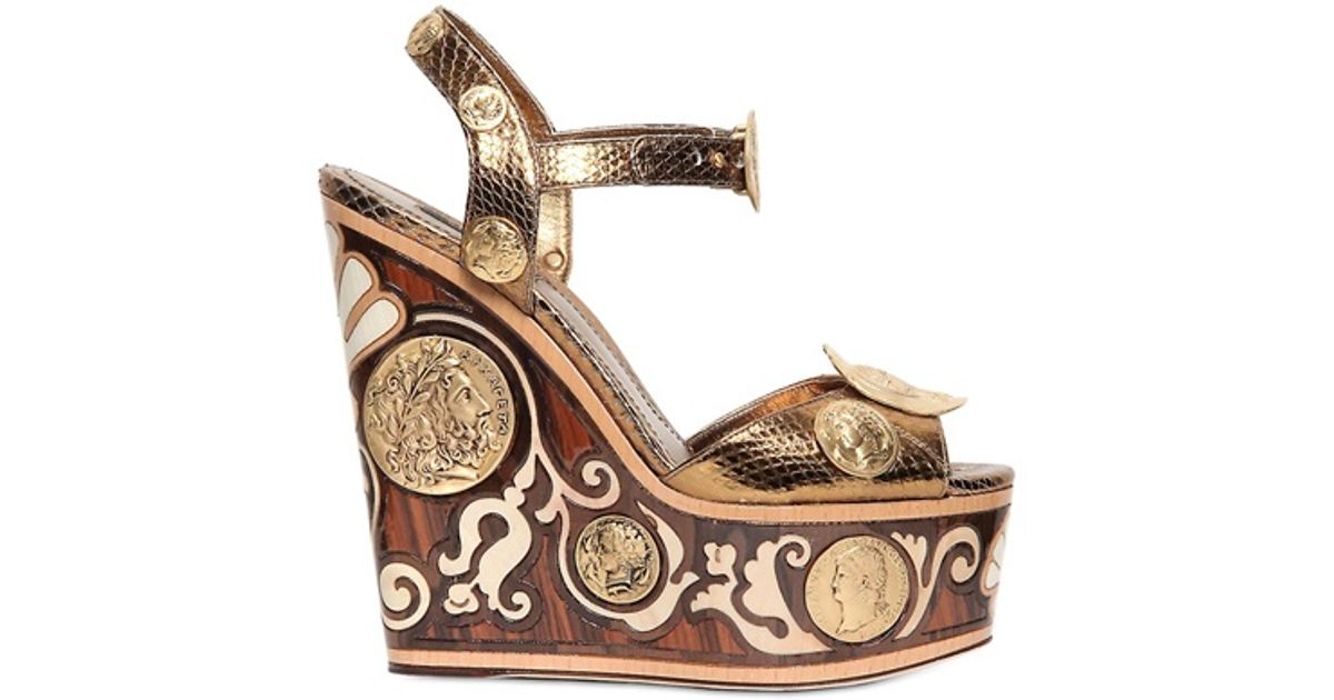 dolce and gabbana gold heels fall 2013