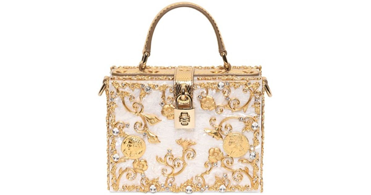 56c5381b96 Lyst - Dolce   Gabbana Mother Of Pearl Top Handle in White