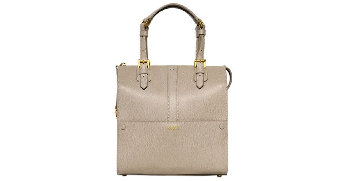 Giorgio Armani Small Weekend Leather Top Handle Bag in Natural - Lyst 54966906c3