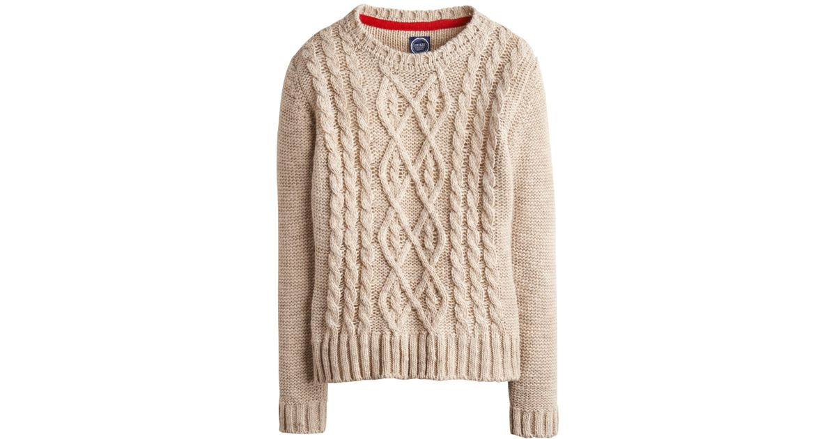 16fe631209c Joules Natural Avelyn Cable Knit Jumper
