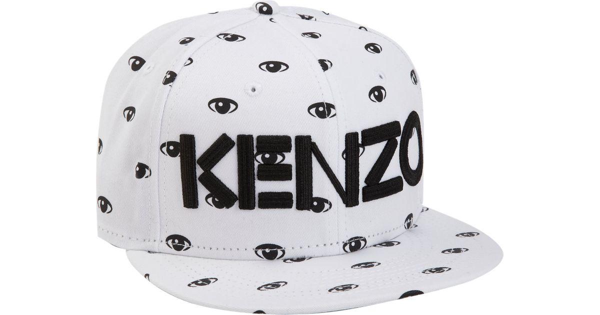 9ba66784a2ee1 ... wholesale kenzo new era eye 59fifty cap in white for men lyst 59847  de8c0 ...
