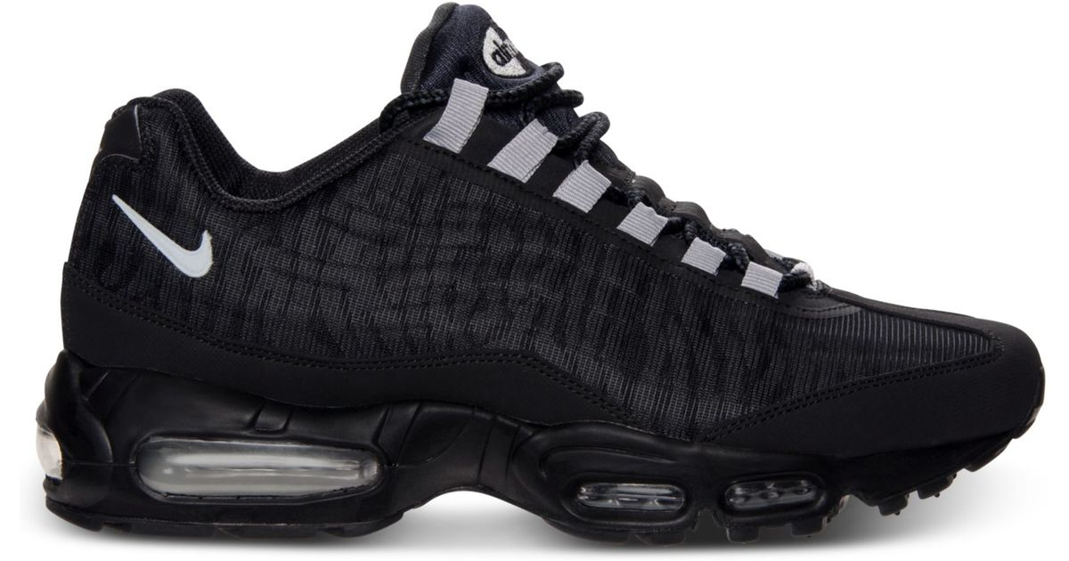 Lyst - Nike Mens Air Max 95 Premium Tape Running Sneakers From Finish Line  in Black for Men 15149c78f