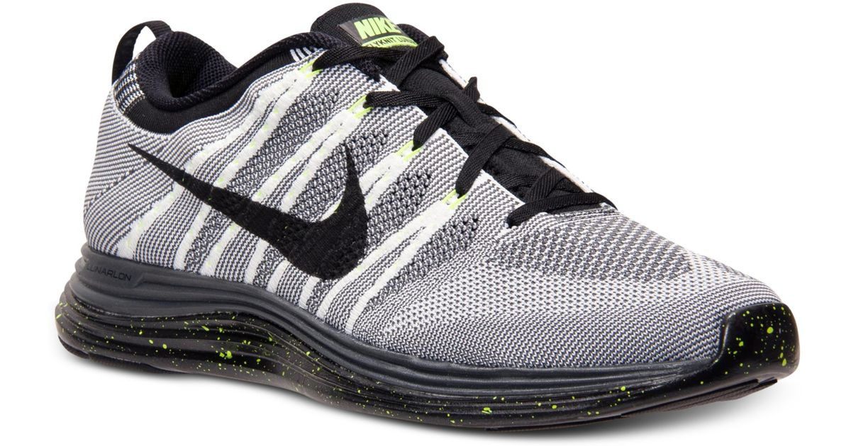 7e9dace0e00b5e ... coupon for lyst nike mens flyknit lunar 1 running sneakers from finish  line in black for