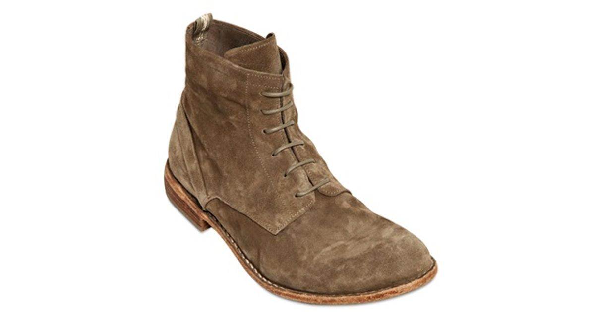 d637c78154db Lyst - Officine Creative Soft Suede Laceup Ankle Boots in Brown for Men