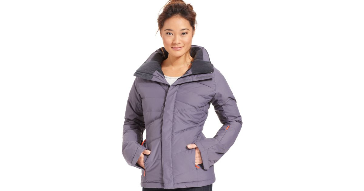 Lyst - The North Face Heavenly Down Quilted Puffer Ski Jacket in Blue cf1db534c