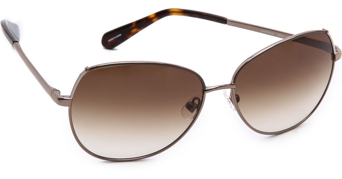 906ab2e45b23 Kate Spade Candida Sunglasses in Brown - Lyst
