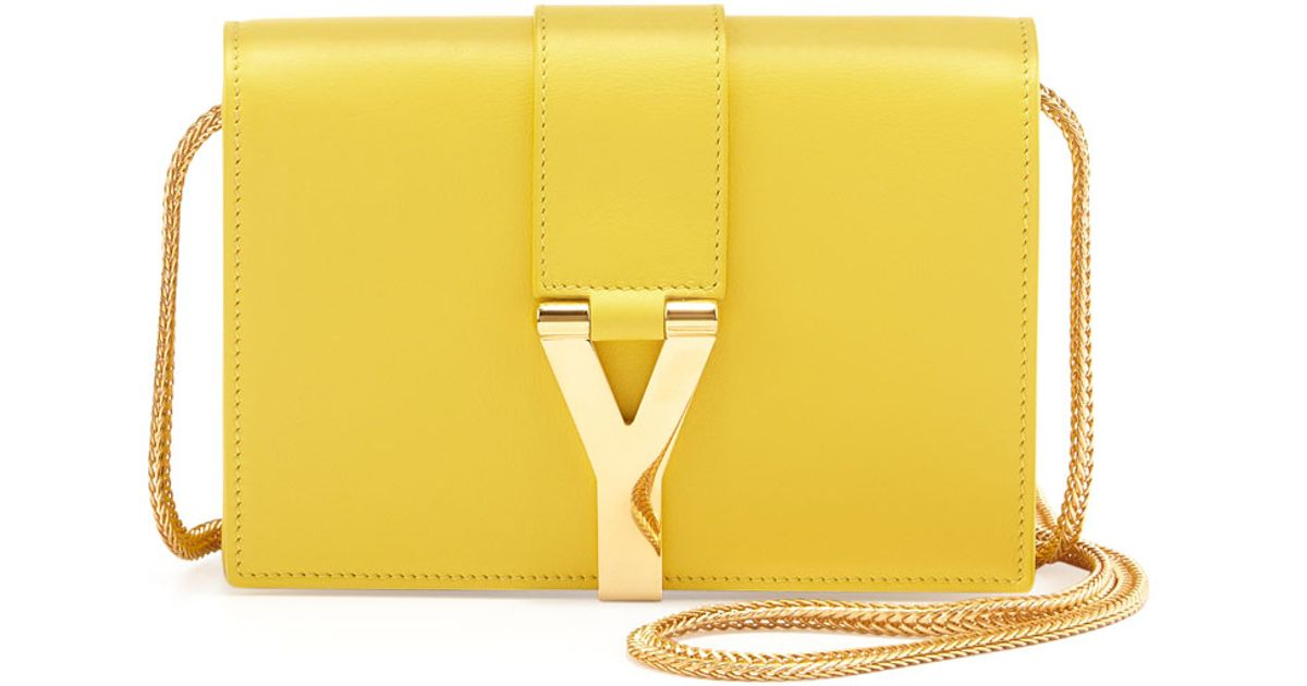 Saint Lau Y Ligne Mini Pochette Crossbody Bag Yellow