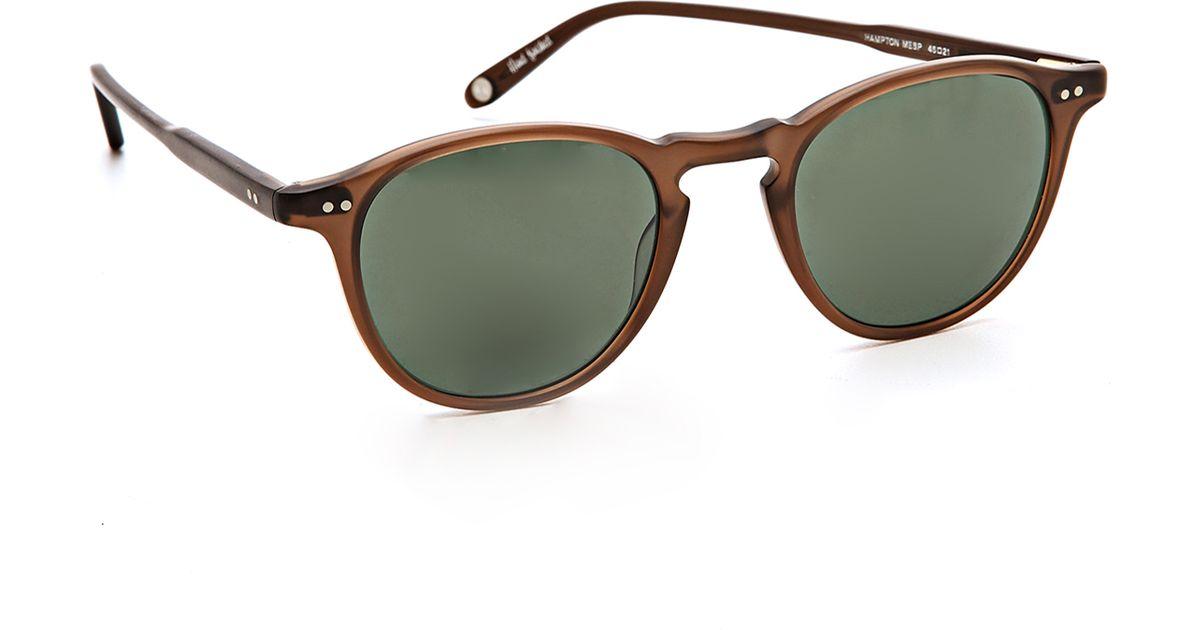 d8902e06f41 Garrett Leight Hampton Sunglasses in Brown for Men - Lyst