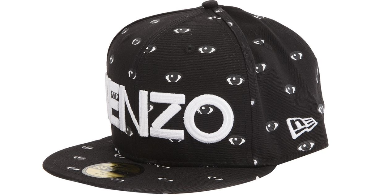 7c4c867ba98 Lyst - KENZO Eye Print Logo Cap in Black for Men