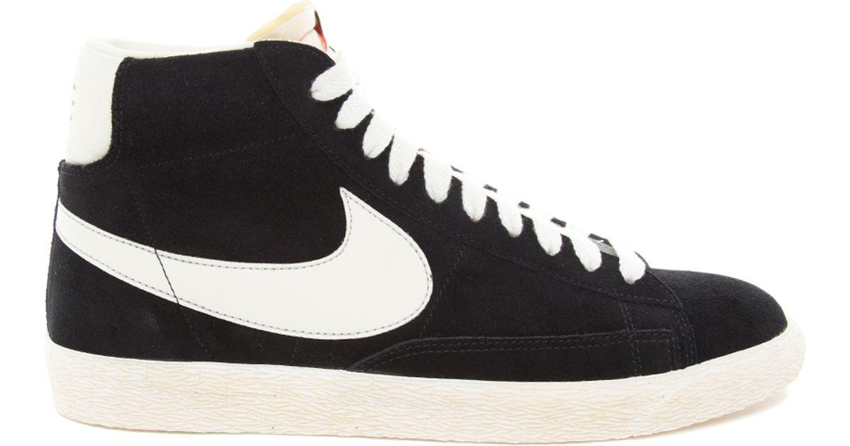 wholesale dealer 74e03 5e9cb ... where can i buy lyst nike blazer hi vintage suede sneakers in black for  men 58e05