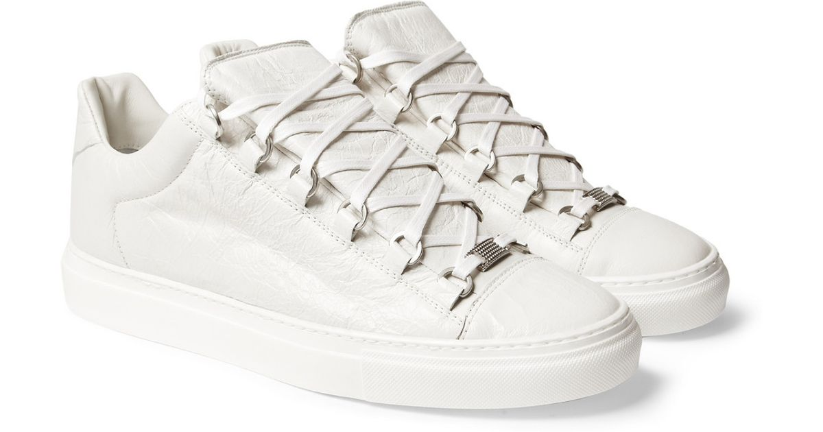balenciaga arena low white