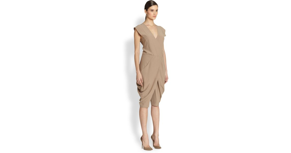 f0855948917 Lyst - Zero + Maria Cornejo Cata Drape Jumpsuit in Brown