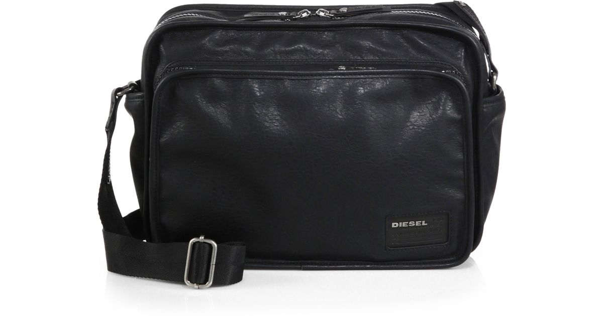 Diesel City To The Core Messenger Bag In Black For Men Lyst