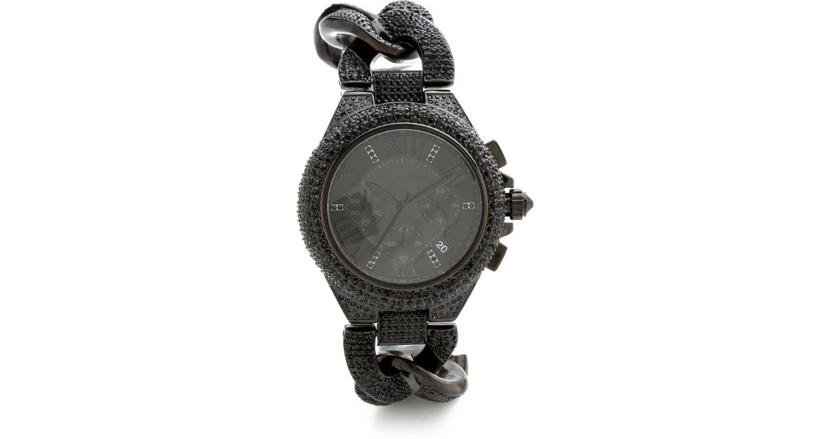 bc0c045d6 Michael Kors Glitz and Glamour Camille Watch in Black - Lyst