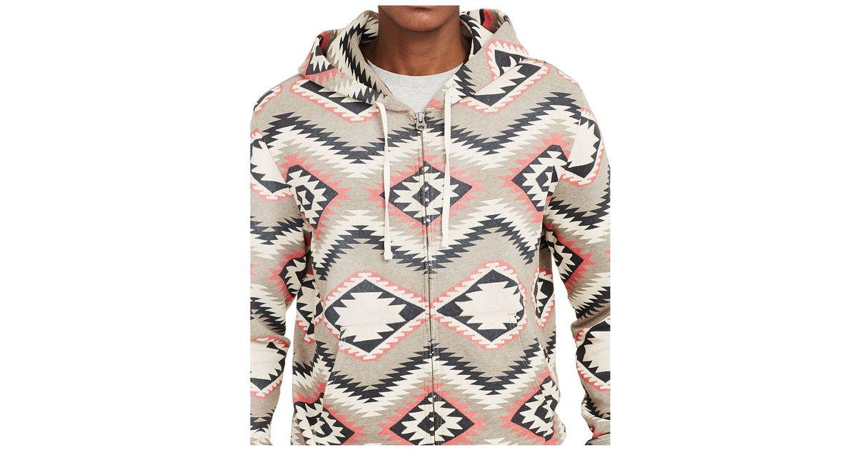 8696d202c65 Denim & Supply Ralph Lauren Natural Men's Southwestern-print Cotton Hoodie  for men
