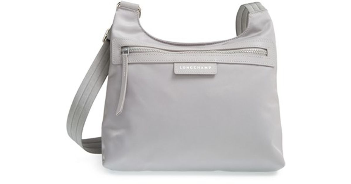 9d92b558d6d96 Lyst - Longchamp  le Pliage - Neo  Crossbody Bag in Gray