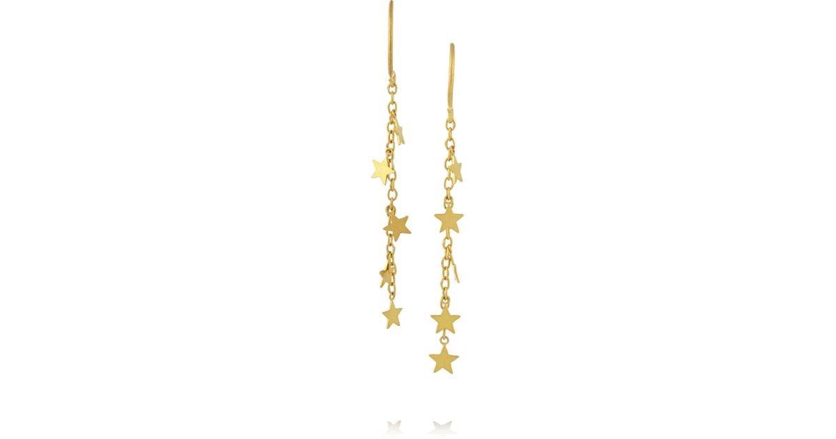 Lyst Marie Helene De Taillac 22 Karat Gold Earrings In Metallic