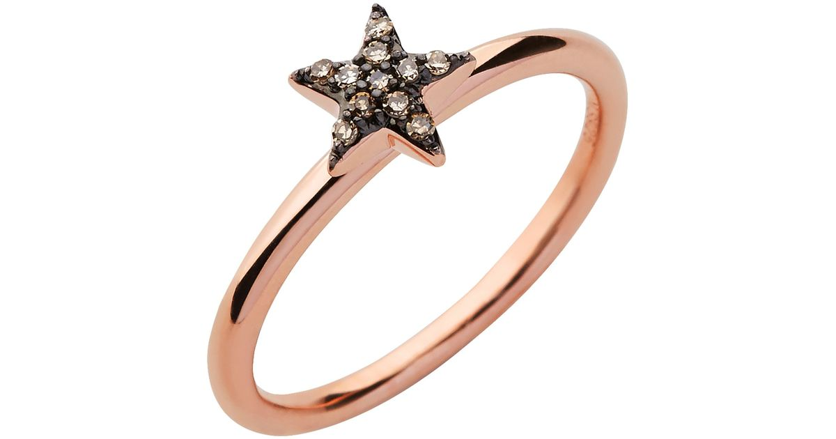 Links Of London Diamond Essentials Rose Gold Star Ring In