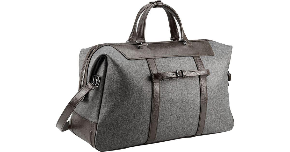 Tumi Canvas San Remo Duffel Bag In Gray
