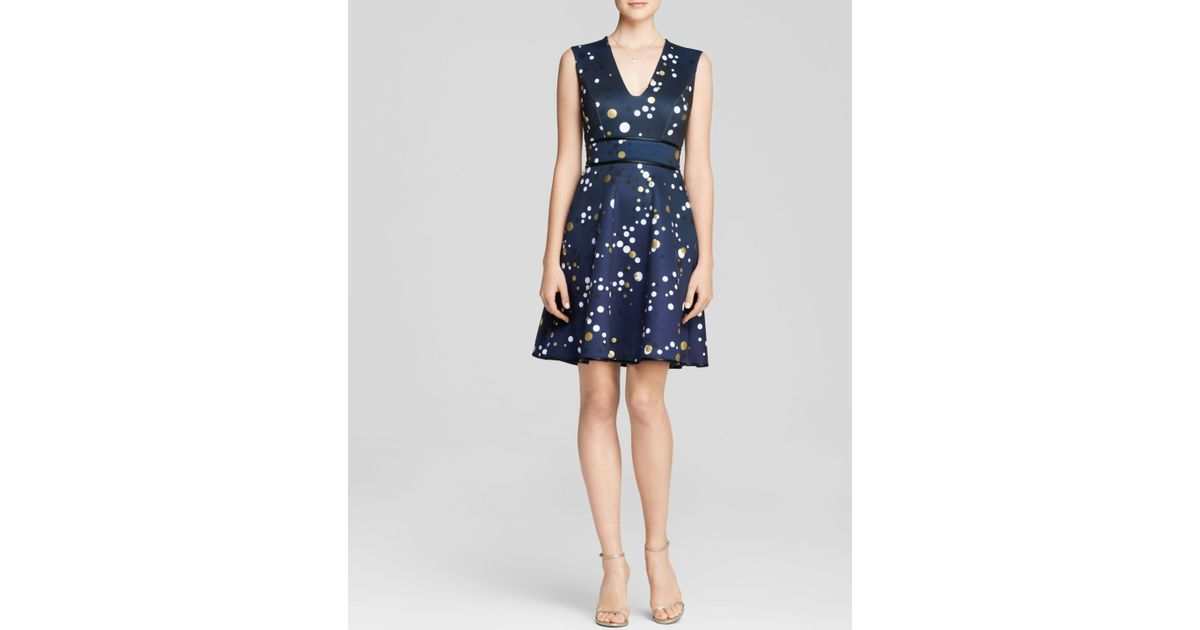6fb839f2fb4c Cynthia Rowley Dress - Bloomingdale'S Exclusive Bonded Bubble Dot in Blue -  Lyst