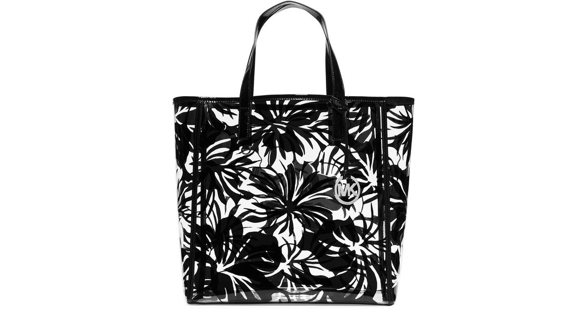 d3d611420add ... denmark michael michael kors tote eliza tropical print large in black  lyst 3ce96 0f84e